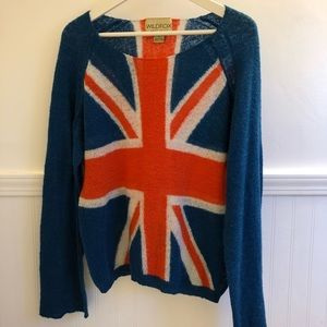WILDFOX- UNION JACK - Crewneck Sweater- Size S